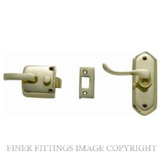 TRADCO SCREEN DOOR LATCH L/H EXTERNAL POLISHED BRASS