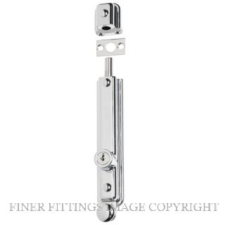 TRADCO 1337 SURFACE BOLT KEY OPERATED 150X32MM CHROME PLATE