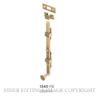 TRADCO 1340 PANIC BOLT 255MM POLISHED BRASS