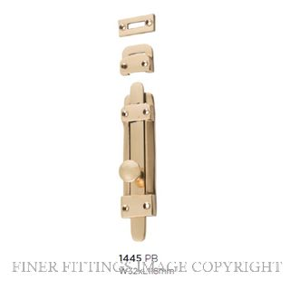 TRADCO 1445 TOWER BOLT 118 X 32MM POLISHED BRASS