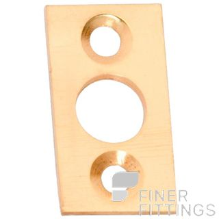 TRADCO 1419 PLATE KEEPER 7.5MM BOLT POLISHED BRASS