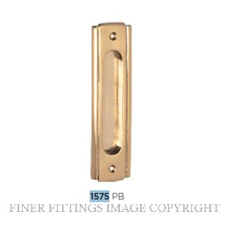 TRADCO 1575 SLIDING DOOR PULL 150 X 43MM POLISHED BRASS