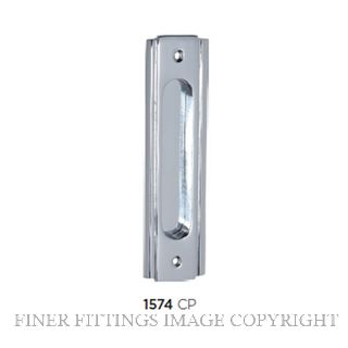 TRADCO 1574 SLIDING DOOR PULL 150 X 43MM CHROME PLATE