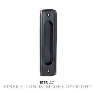 TRADCO 1576 SLIDING DOOR PULL 150 X 43MM ANTIQUE COPPER