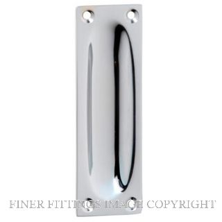 TRADCO 1588 FLUSH PULL 88 X 28MM CHROME PLATE