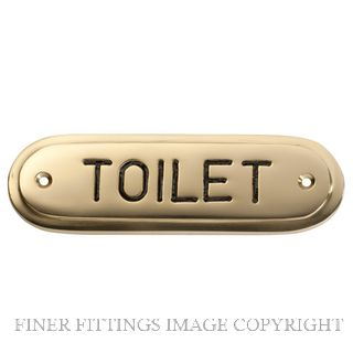 TRADCO 1595 SIGN TOILET 135 X 40MM POLISHED BRASS