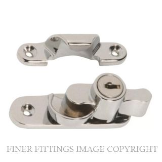 TRADCO 1609 SASH FASTENER KEY OPERATED SATIN CHROME