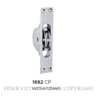TRADCO 1682 SASH PULLEY CHROME PLATE
