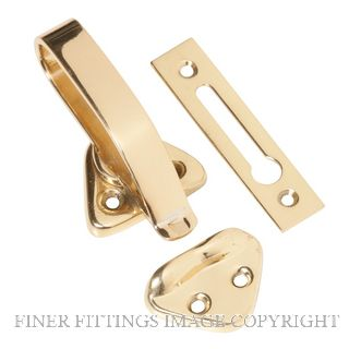 TRADCO 1685 HOPPER WINDOW CATCH POLISHED BRASS