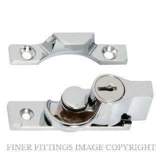 TRADCO 1623 SASH FASTENER KEY OPERATED CHROME PLATE