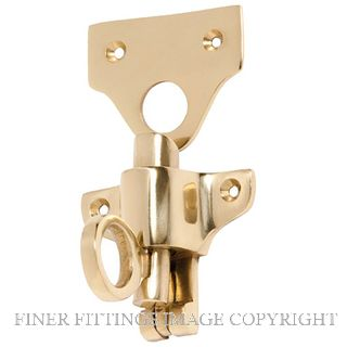 TRADCO 1781 FANLIGHT CATCH POLISHED BRASS
