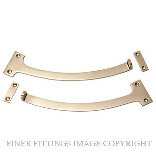 TRADCO 1783 FANLIGHT STOP (PAIR) POLISHED BRASS