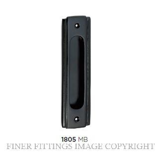 TRADCO 1805 SLIDING DOOR PULL MATT BLACK
