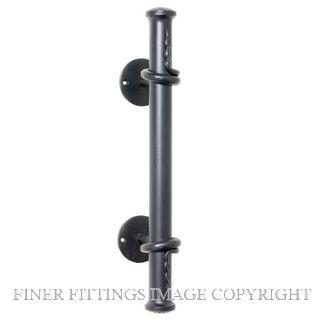 TRADCO PULL HANDLE IRON 420MM MATT BLACK