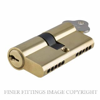 TRADCO 2045 - 2071 DOUBLE KEY EURO CYLINDER POLISHED BRASS
