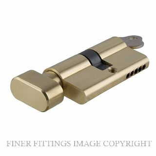 TRADCO 2050 - 2081 KEY-TURN EURO CYLINDER POLISHED BRASS