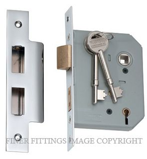 TRADCO 2166-2167 5 LEVER MORTICE LOCKS CHROME PLATE