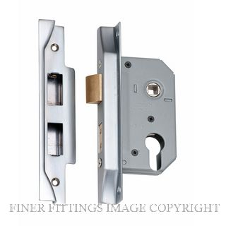 TRADCO 2180 - 2181 REBATED EURO LOCKS SATIN CHROME