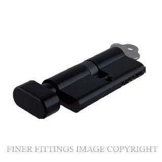 TRADCO 2056 - 2088 KEY-TURN EURO CYLINDER MATT BLACK