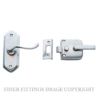 TRADCO 2059 SCREEN DOOR LATCH R/H EXTERNAL SATIN CHROME