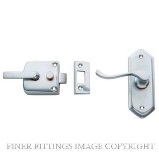 TRADCO 2060 SCREEN DOOR LATCH L/H EXTERNAL SATIN CHROME