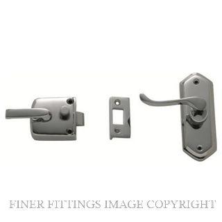 TRADCO 2064 SCREEN DOOR LATCH L/H EXTERNAL CHROME PLATE