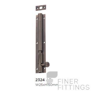 TRADCO 2324 150MM BARREL BOLT LONG THROW (30MM) ANTIQUE BRASS