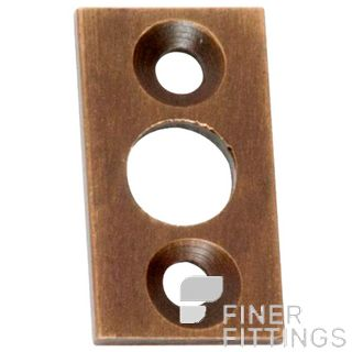 TRADCO 2328 PLATE KEEPER AB 7.5MM BOLT ANTIQUE BRASS