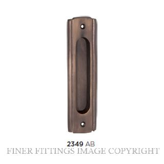 TRADCO 2349 SLIDING DOOR PULL 150 X 43MM ANTIQUE BRASS