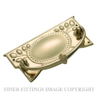 TRADCO 3320 - 3322 CABINET DROP HANDLES POLISHED BRASS
