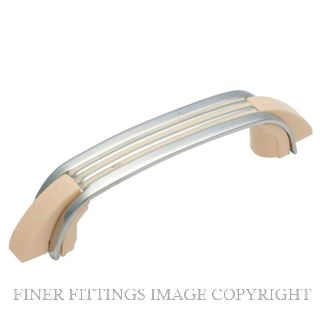 TRADCO 3107 DECO PULL HANDLE 110 X 17MM CHROME PLATE-IVORY