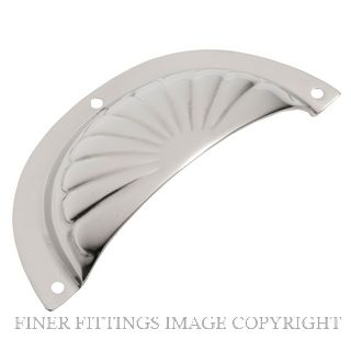 TRADCO 3136 DRAWER PULL FLUTED SB 97 X 40MM POLISHED NICKEL