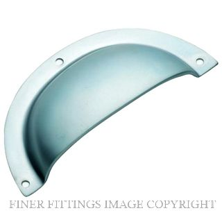 TRADCO 3141 DRAWER PULL PLAIN SB 97 X 40MM SATIN CHROME