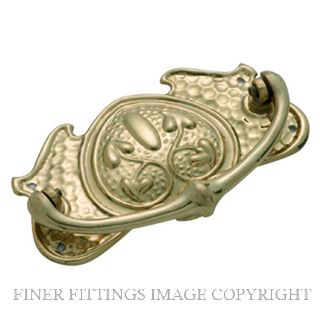 TRADCO 3390 - 3392 CABINET DROP HANDLES POLISHED BRASS