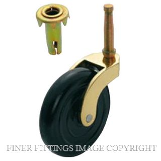TRADCO 3541 TROLLEY CASTOR PIN & SOCKET POLISHED BRASS