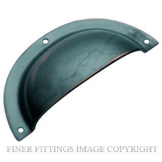 TRADCO 3561 DRAWER PULL PLAIN SB 97 X 40MM ANTIQUE COPPER