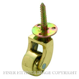 TRADCO TR3520-TR3523 SCREW PLATE CASTOR BRASS WHEEL