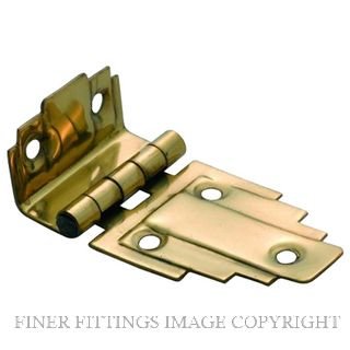 TRADCO OFFSET HINGE (STEPPED) SB POLISHED BRASS