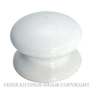 TRADCO 3730 - 3732 PORCELAIN KNOB WHITE