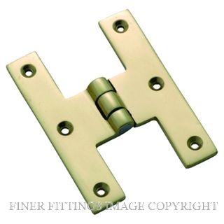TRADCO HINGE H 75 X 50MM POLISHED BRASS