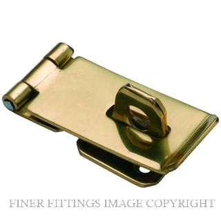 TRADCO HASP & STAPLE 75 X 38MM POLISHED BRASS