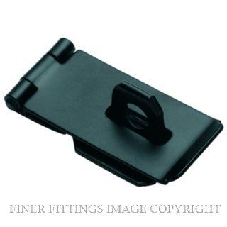 TRADCO 3895 HASP & STAPLE SI 75 X 38MM MATT BLACK