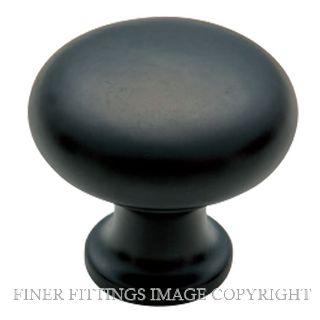 TRADCO 4081 - 4083 IRON CABINET KNOBS MATT BLACK