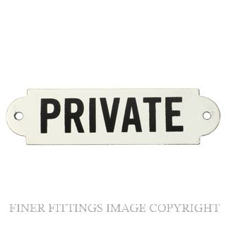 TRADCO 4547 ENAMEL SIGN PRIVATE 150 X 40MM ENAMEL