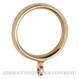 TRADCO 4632 CURTAIN RING 38MM (INTERNAL) POLISHED BRASS