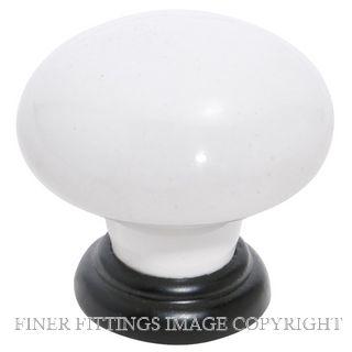 TRADCO 4174 - 4175 CABINET KNOBS WHITE-MATT BLACK
