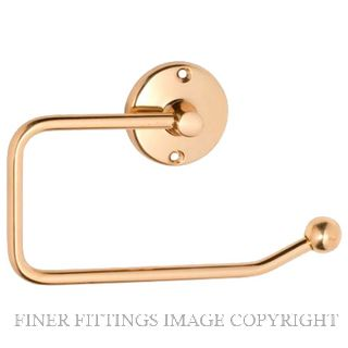 TRADCO 4854 TOILET ROLL HOLDER POLISHED BRASS
