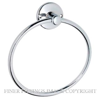 TRADCO 4862 TOWEL RING 165MM CHROME PLATE