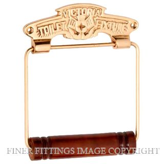TRADCO 4883 VICTORIA TOILET ROLL HOLDER POLISHED BRASS