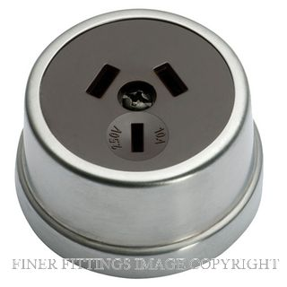 TRADCO 5524 TRADITIONAL SOCKET SATIN CHROME-BROWN